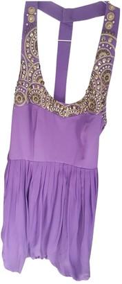 Tibi Purple Silk Dresses