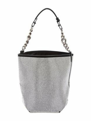 Ermanno Scervino Crystal-Embellished Bucket Bag Black