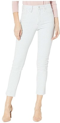 Joe's Jeans Luna Ankle Clean Waistband Cut Hem Jeans in Railroad Stripe (Railroad Stripe) Women's Jeans