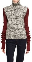 Calvin Klein Two-Tone Chunky Tweed Turtleneck Sweater