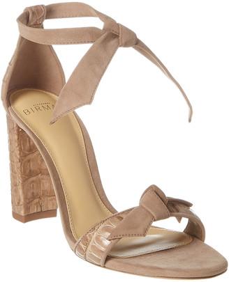 Alexandre Birman Clarita 90 Suede & Leather Sandal
