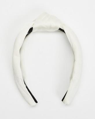 Lele Sadoughi Silk Knotted Headband