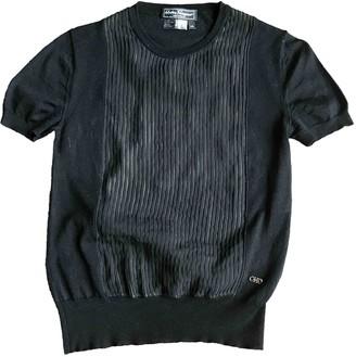 Salvatore Ferragamo Black Wool Top for Women Vintage