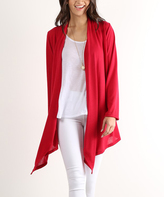Red Open Sidetail Duster