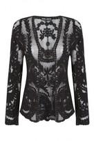 Select Fashion Fashion Womens Black Crochet Lace Cardigan - size M