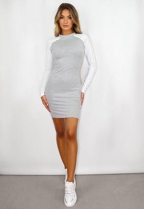 Missguided Jersey Colour Block Mini Dress