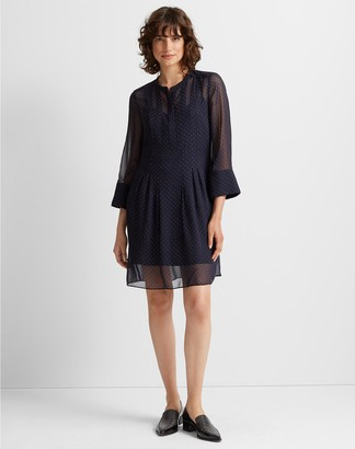 Club Monaco Silk Pintuck Dress