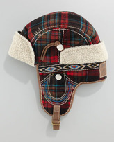 True Religion Wooly Plaid Trapper Hat