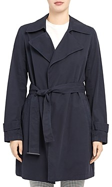 Theory Oaklane Belted Short Trench Coat
