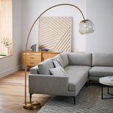 Overarching Acrylic Shade Floor Lamp - Antique Brass/Smoke