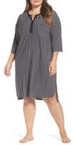 DKNY Plus Size Women's Stripe Sleepshirt