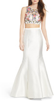 Xscape Evenings Beaded Two-Piece Mermaid Gown
