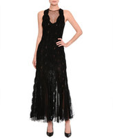 Ermanno Scervino Lace & Tulle Sleeveless Gown