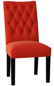 Poshbin Lucy Parsons Chair Poshbin Body Fabric: Bella Berry, Leg Color: Black