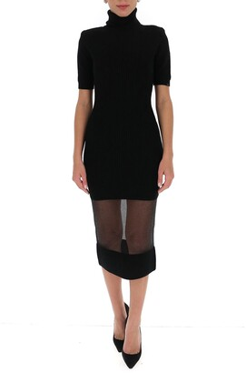 Elisabetta Franchi Turtleneck Knitted Midi Dress