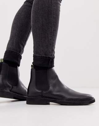 Polo Ralph Lauren talan leather chelsea boot in black