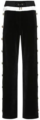 Balmain Embellished velvet trackpants