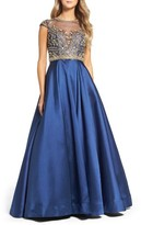Mac Duggal Women's Embellished Satin Ballgown