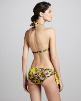 Jean Paul Gaultier Floral-Print Halter Two-Piece Bikini