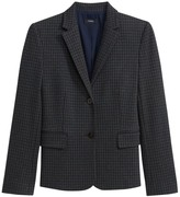 Theory Houndstooth Knit Shrunken Jacket