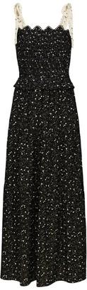 Ethereal London Black Zia Smock Midi Dress
