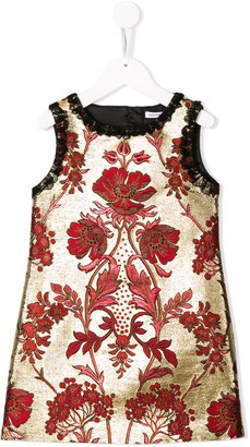 Dolce & Gabbana Kids Floral Embroidered Dress