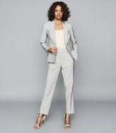 Reiss Thea - Wool Blend Tailored Blazer in Grey