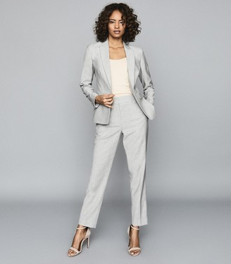 Reiss Thea - Wool Blend Tailored Blazer in Grey