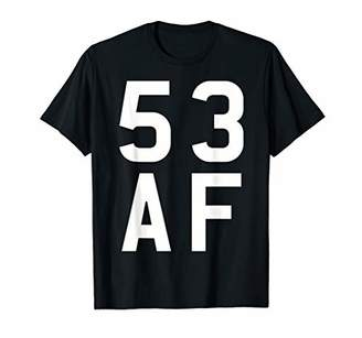 53 AF T-Shirt Born In 1966 Vintage 53rd Birthday Gift Shirt