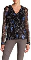 Elie Tahari Verda Floral Ruffle Silk Blouse