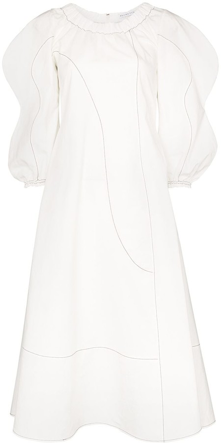 REJINA PYO Aida puff-sleeve midi dress
