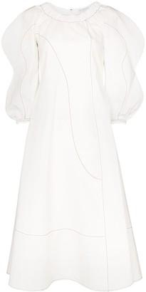 REJINA PYO Aida puff-sleeve midi dress