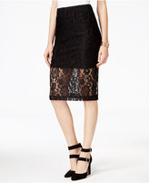Amy Byer Juniors' Lace Midi Pencil Skirt