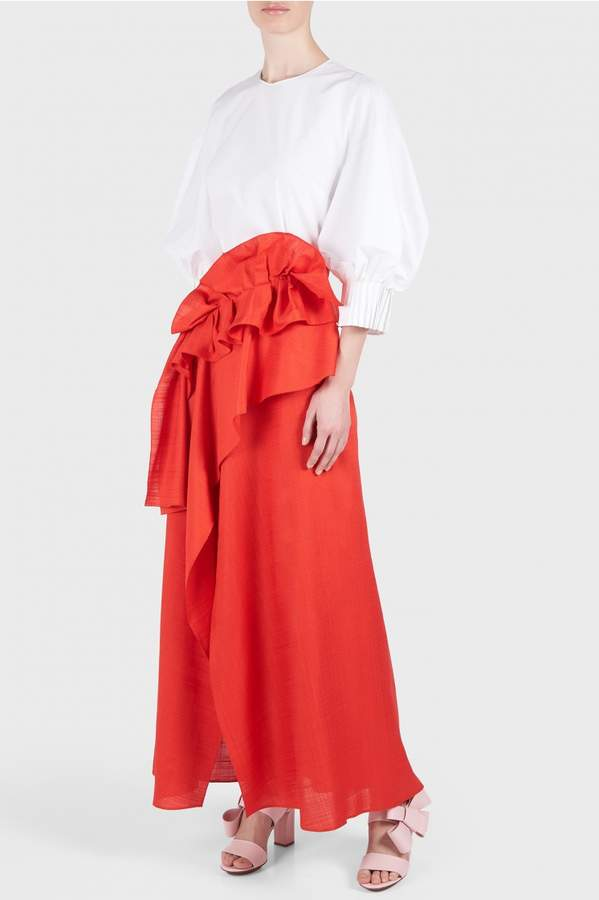 DELPOZO Long Wrap Skirt