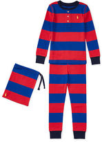 Ralph Lauren 2-7 Striped Cotton Sleep Set
