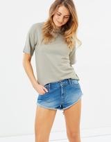 Rusty Get Cuffed Denim Shorts