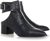 Senso Indy Croc Print Ebony Black Ankle Boot