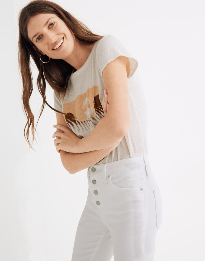 Thumbnail for your product : Madewell Curvy High-Rise Skinny Crop Jeans in Pure White: Button-Front Edition