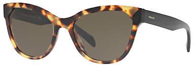 Prada Linea Rossa PR21SS Cat's Eye Sunglasses, Tortoise