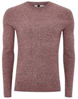 Topman Muscle Fit Rib Knit Sweater