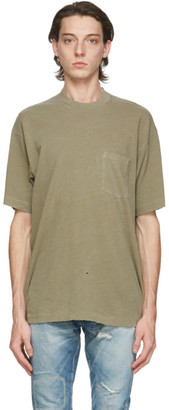 John Elliott Green Faded Pocket T-Shirt