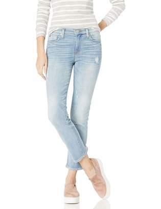 Hudson Jeans Women's Zoeey Mid Rise Crop Straight 5 Pocket Jean
