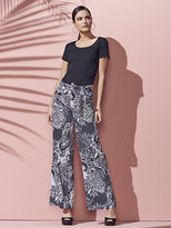 New York & Co. Tie-Waist Wide-Leg Pant - Print