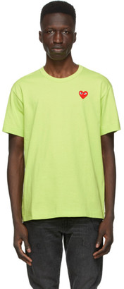 Comme des Garcons Green Heart Patch T-Shirt