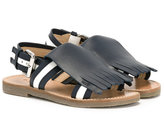 Marni fringed sandals - kids - Goat Skin/Leather/Patent Leather/rubber - 30