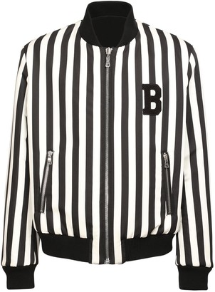 Balmain Reversible Nylon & Cotton Bomber Jacket