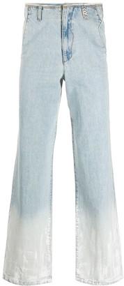 Ader Error Ombre Straight-Leg Jeans