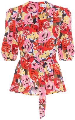 Rebecca Vallance Blume floral crepe blouse