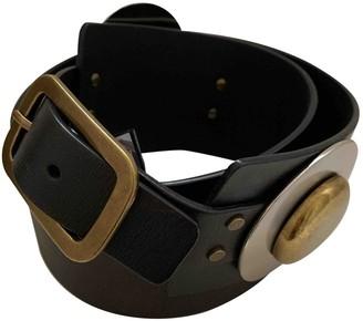 Diane von Furstenberg Black Leather Belts