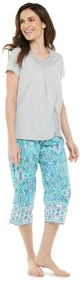 Croft & Barrow Women's Pajama Tee & Pajama Capri Set